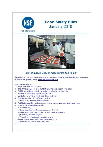 Food Safety Bites January 2016