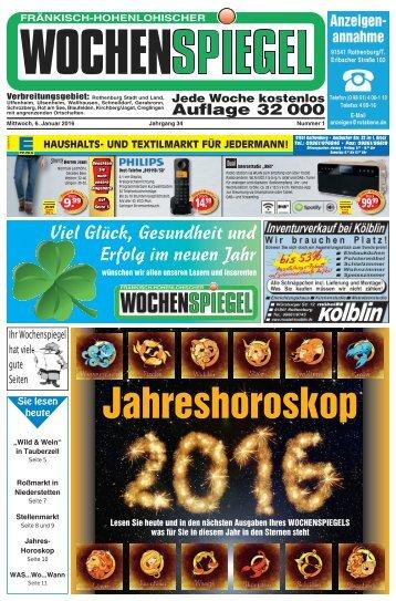 Fränkisch-Hohenlohischer Wochenspiegel