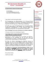 Einladung Trainingslager Bodensee