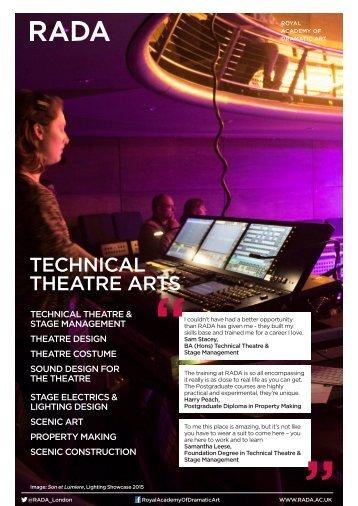 TECHNICAL THEATRE ARTS