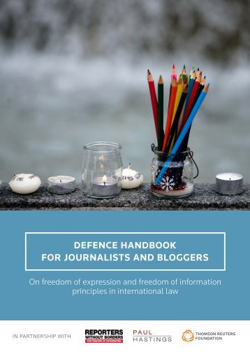 DEFENCE HANDBOOK FOR JOURNALISTS AND BLOGGERS