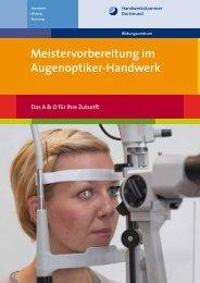 Meistervorbereitung im Augenoptiker-Handwerk - Meisterschulen