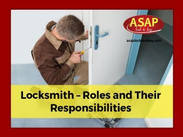 Locksmiths - What Does They Do