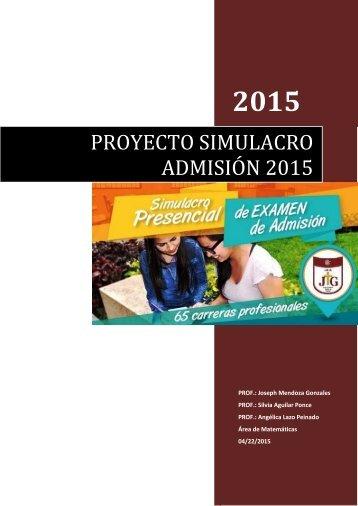 RESUMEN PROYRCTO SIMULACRO V4.0