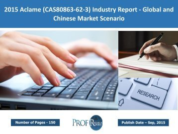 Aclame (CAS80863-62-3) Industry Report 2015