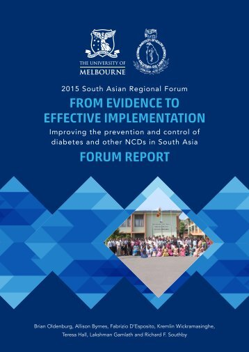 FROM EVIDENCE TO EFFECTIVE IMPLEMENTATION FORUM REPORT
