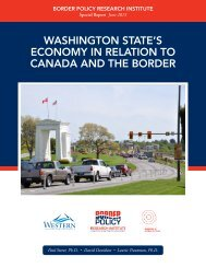 WASHINGTON STATE'S ECONOMY IN RELATION TO CANADA AND THE BORDER