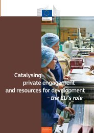 Catalysing private engagement and resources for development - the EU's role