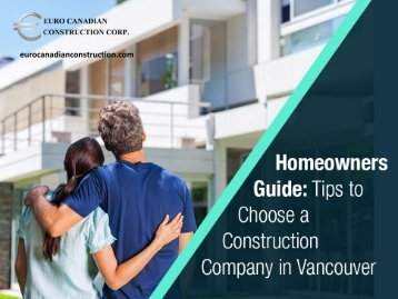 Tip to Choose General Contractors in Vancouver