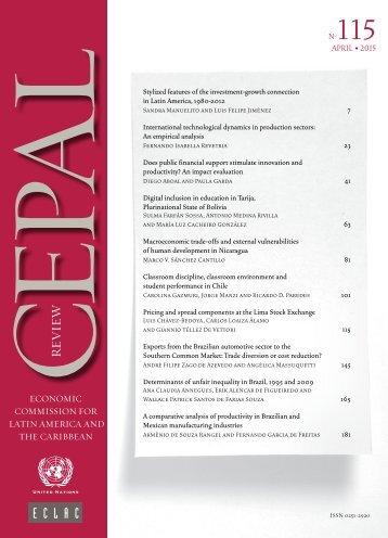 CEPAL Review Nº115