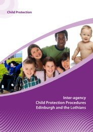 Inter-agency Child Protection Procedures Edinburgh and the Lothians