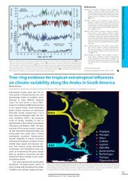 Tree-ring evidence for tropical-extratropical influences on climate ...