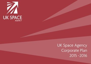 UK Space Agency Corporate Plan 2015 -2016