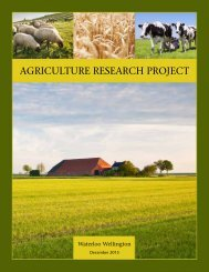 AGRICULTURE RESEARCH PROJECT