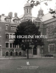 The Highline Hotel Fact Sheet