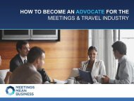 HOW TO BECOME AN ADVOCATE FOR THE MEETINGS & TRAVEL INDUSTRY