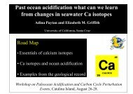Past ocean acidification what can we learn from changes in ...