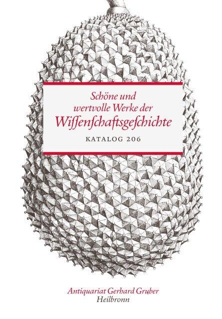 Schöne und wertvolle Werke der Wissenschaftsgeschichte - Katalog 206