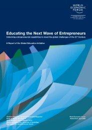 Educating the Next Wave of Entrepreneurs - World Economic Forum