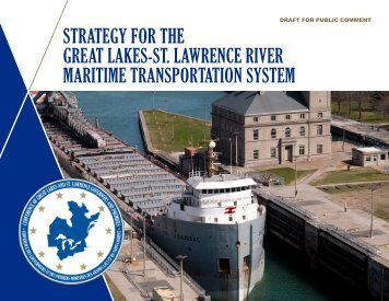 STRATEGY FOR THE GREAT LAKES-ST LAWRENCE RIVER MARITIME TRANSPORTATION SYSTEM