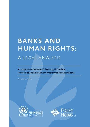 BANKS AND HUMAN RIGHTS