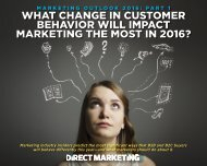 WHAT CHANGE IN CUSTOMER BEHAVIOR WILL IMPACT MARKETING THE MOST IN 2016?