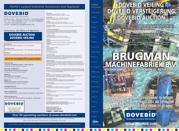 To view a complete asset list visit our website @ www.dovebid.com ...