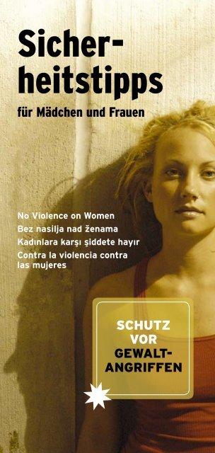 Sicherheitstipps für Frauen und Mädchen - Akzente