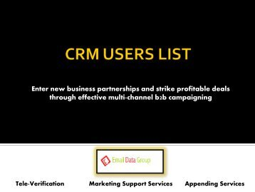 Email Marketing List for CRM