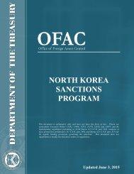 NORTH KOREA SANCTIONS PROGRAM
