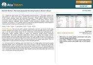 Günlük Bülten Küresel piyasalarda satış baskısı devam ediyor   .. 5