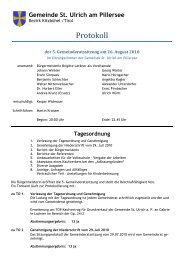 Tagesordnung - St. Ulrich am Pillersee - Land Tirol