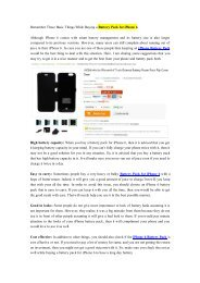 Remember These Basic Things While Buying a Battery Pack for iPhone 6-newnow.com
