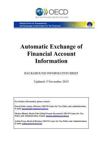 Automatic Exchange of Financial Account Information
