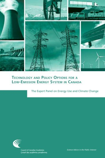 Technology Policy Options Low-Emission Energy System Canada