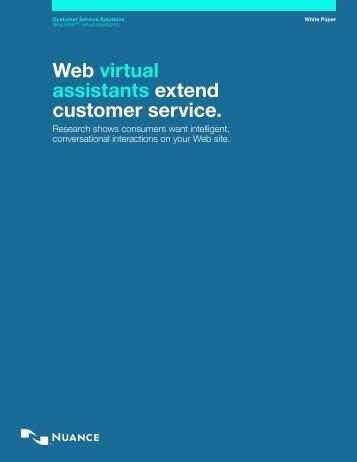 Web virtual assistants extend customer service