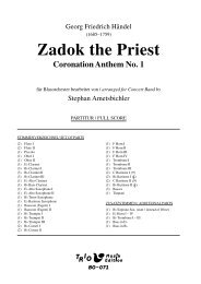 Zadok The Priest - Demopartitur (BO-071)