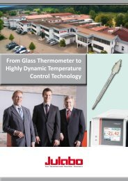 From Glass Thermometer to Highly Dynamic Temperature ... - Julabo