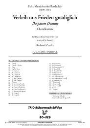 Verleih uns Frieden gnädiglich - Demopartitur (BO-029)