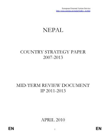 Nepal Mid-Term Review of country strategy paper 2007-2013