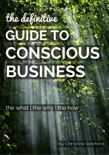 THE DEFINITIVE GUIDE TO CONSCIOUS BUSINESS