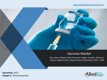 Vaccines Market: Industry Report, Analysis 2014-2020
