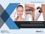 Skincare Devices Market - Opportunities and Forecasts, 2014 -2020