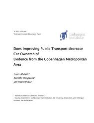 Car Ownership? Evidence from the Copenhagen Metropolitan Area