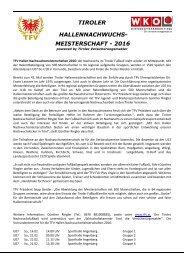 TFV Hallen Nachwuchsmeisterschaften 2016