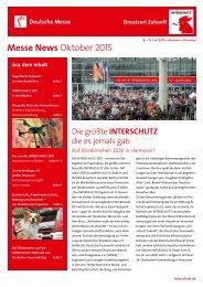Messe News Oktober 2015