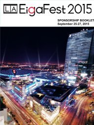 SPONSORSHIP BOOKLET September 25-27 2015