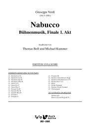 Nabucco: Bühnenmusik Finale 1. Akt - Demopartitur (BO-066)