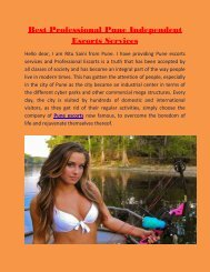 Best Professional Pune Models dating Services