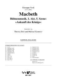 Macbeth: Bühnenmusik 1. Akt 5. Szene - Demopartitur (BO-067)